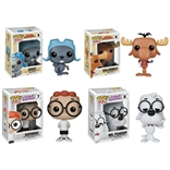 Set Of 4 Rocky & Bullwinkle Funko Pop Vinyl Figures
