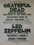 The Grateful Dead Led Zeppelin Randy Tuten Poster Signed