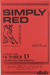 Simply Red Men And Woman World Tour Rock Concert Poster Avalon Danny Wilson