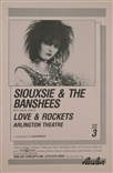 Siouxsie And The Banshees Rock Concert Poster Love And Rockets Avalon