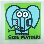 Size Matters (Elephant) Original Painting On Canvas By Artist Todd Goldman