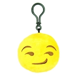 "Smirk Emoji Throwbaby 3"" Plush Clip-On Keychain By Throwboy"