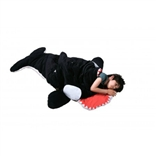 Snore-Ca Kids Giant Killer Whale Sleeping Bag and Designer Plush