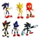 Full Set of 6 of the Sonic The Hedgehog Buildable Figures from Gachu Tomy