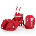 Space Crab Red Edition Designer Vinyl Figure by Pixelfillu
