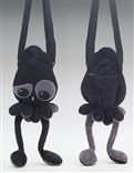 Confused Black Squib Plush Purse by Squib Kid Ink