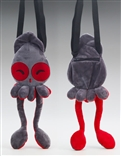 Happy Grey Squib Plush Purse by Squib Kid Ink