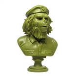 Rebel Ape Bust Olive Green Edition Designer Vinyl Figure by SSUR