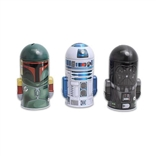 Set Of 3 Star Wars Molded Coin Saving Banks