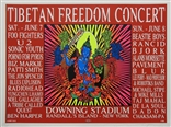 Taz 1997 Tibetan Freedom Concert Silkscreen Poster Signed Numbered