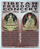Taz 1998 Tibetan Freedom Concert Silkscreen Poster Signed Numbered