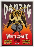 Taz Danzig Silkscreen Rock Concert Poster Signed Numbered White Zombie Kyuss