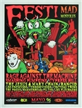 Taz Festi Mad Mostoles Silkscreen Concert Poster Signed Numbered Cypress Hill