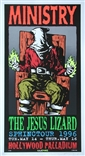 Taz Ministry Jesus Lizard Silkscreen Concert Poster Signed Numbered 1996
