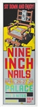 Taz Nine Inch Nails Silkscreen Concert Poster Signed Numbered Mint
