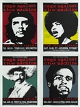 Rage Against the Machine Silkscreen Poster Set of 4 - Taz