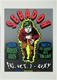 Taz Sebadoh 1994 Silkscreen Concert Poster Signed Numbered Mountain Goats