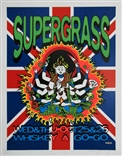 Taz Supergrass 1995 Silkscreen Concert Poster Signed Numbered