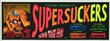 Taz Supersuckers Silkscreen Concert Poster Signed Numbered