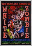 Taz White Zombie 1993 Silkscreen Concert Poster Signed Numbered