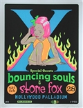 Taz X Bouncing Souls 1998 Silkscreen Concert Poster Signed Numbered
