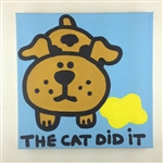 The Cat Did It Original Painting On Canvas By Artist Todd Goldman