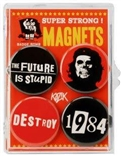 The Future Is Stupid 4 Piece Magnet Set Badge Bomb Frank Kozik