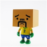 "Brazil To-Fu World Cup Football 2"" Designer Vinyl Figure by Devilrobots"