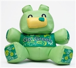GREEN Tou Tou Teddy Figure designed by Joe Kwong/Atomic Monkey