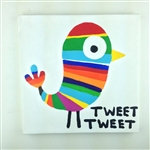 Tweet Tweet (Twitter Bird) Original Painting On Canvas By Artist Todd Goldman