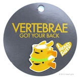 Vertebrae Lapel Pin Urine My Heart! I Heart Guts Got Your Back!
