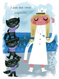 Amanda Visell Print 'I Am My Own Captain' Poster