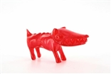 "Clear Red Chiko O.G. Waodog 3"" Sofubi Kaiju Japan Ultra Limited Edition Wao Dog Vinyl"