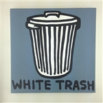 White Trash (Trash Cans) Original Painting On Canvas By Artist Todd Goldman
