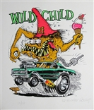 "Ed ""Big Daddy"" Roth ""Wild Child"" Rat Fink Signed & Numbered Art Silkscreen Print"
