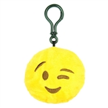 "Wink Emoji Throwbaby 3"" Plush Clip-On Keychain By Throwboy"