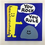 You Rock, You Rule Original Painting On Canvas By Artist Todd Goldman