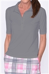 Golftini Elbow Sleeve Fashion Tech Polo - Grey