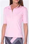 Golftini Elbow Sleeve Fashion Tech Polo - Light Pink