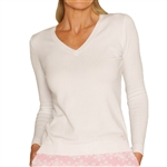 Golftini V-Neck Sweater White