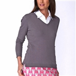Golftini Grey V-Neck Sweater