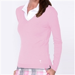 Golftini Light Pink V-Neck Sweater