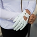Coates Golf Leather Golf Glove - White