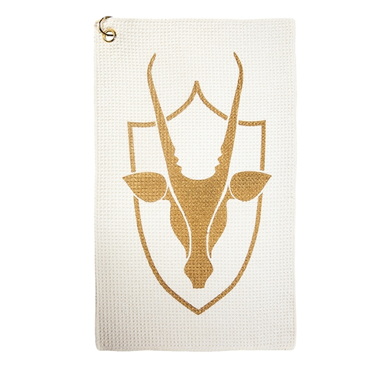 Coates Golf Waffle Golf Towel - Cream