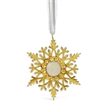 Dune Snowflake Ornament - Gold