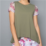 Denise Cronwall Mesh Sleeve Top - Army of Lovers, Green