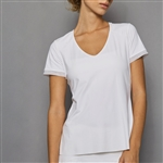 Denise Cronwall Short Sleeve Top - Pure White