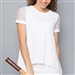 Denise Cronwall White Mesh Cap Sleeve Top