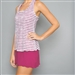 Denise Cronwall Sienna Racerback Tennis Dress Raspberry
