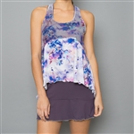 Denise Cronwall Tennis Dress - Mystical Violet Floral Mesh